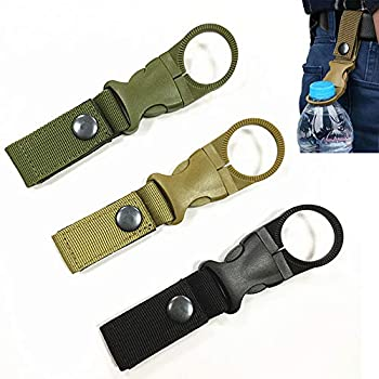 Hanging Bottle Buckle Clip Carabiner,Portable Mineral Water Bottle Ring Holder Keychain Belt Webbing Strap for Outdoor Camping Hiking Traveling  3PCS
