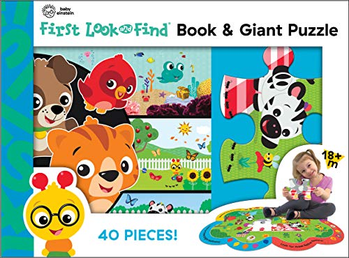 Baby Einstein – First Look and Find libro de mesa y rompecabezas gigante de 40 piezas – PI Kids