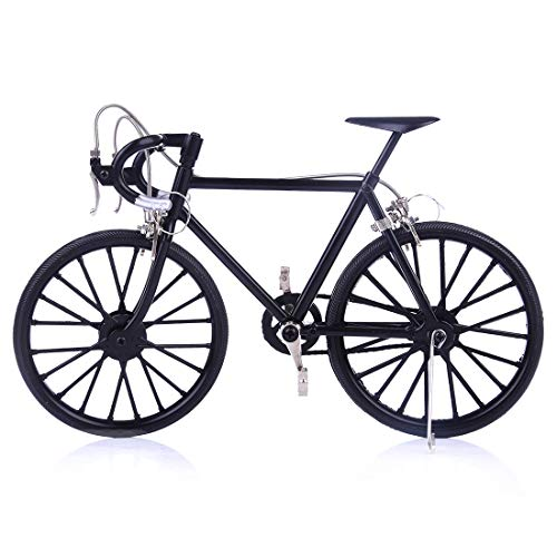 RuiyiF Model Bicycle Zinc Alloy, DIY Bike Models Kits to Build with Display Stand 3D Puzzles for Kids Ages 8-12, Desk Decorations