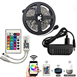 KIODS LED Tira RGB Led Strip Light 5050 SMD DC 12V Flexible Led Diode Tape Fita 5M 10M RGB Leds Neon Impermeable WiFi Controller Adapter Set