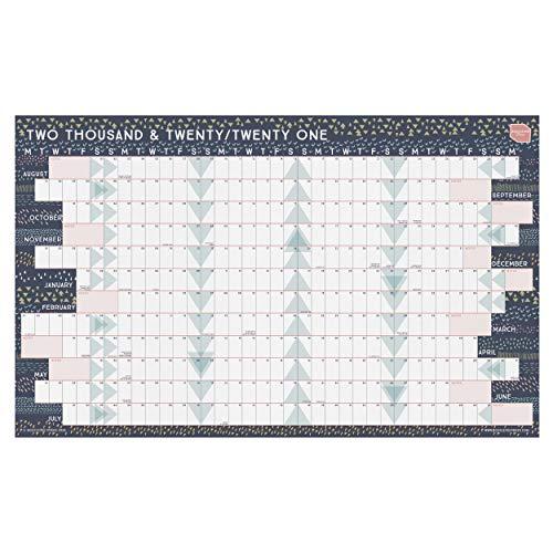 Boxclever Press Wandkalender 2020 2021 im Querformat fürs Zuhause oder Büro. Jahresplaner für das Schuljahr 2020 2021. Plakatkalender mit Laufzeit von August 2020 bis Juli 2021. (Laminiert)