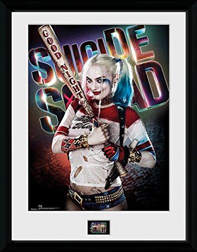 DC Comics Suicide Squad, Harley Quinn Good Night Gerahmter Druck, Mehrfarbig, 40x 30cm