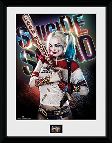 DC Comics GB Eye LTD, Suicide Squad, Harley Quinn Good Night, Print Enmarcado 40 x 30 cm