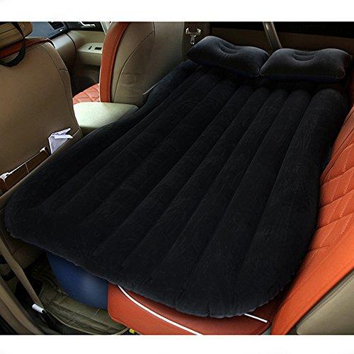 VIN Vinteky Set Completo di Materasso Gonfiabile per Auto Portatile per Viaggiare all'aperto Incluso Pompa elettrica Letto Gonfiabile e 2 Cuscini (Nero)