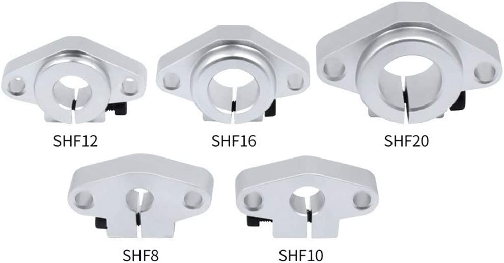 3D Printing CHASH SHF8//10//12//16//20 Guide Rod Horizontal Support Base Optical Axis Fastener Linear Bearing Fixed Support//support Suitable for CNC Engraving Machine Accessories Color : SHF20