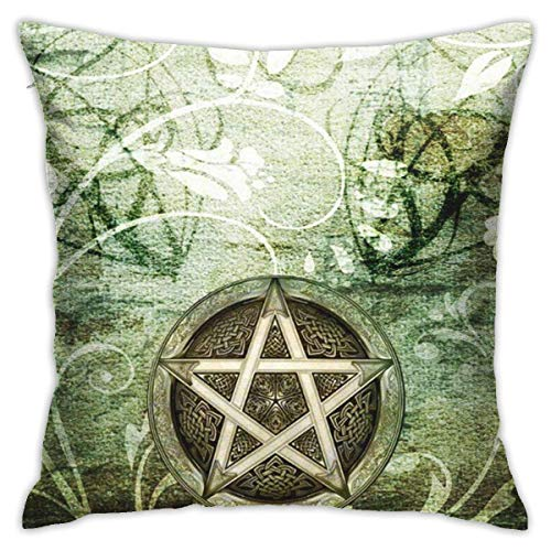 Lawenp Pillowcase 18x18 Inch Pillowcase Cushion for Sofa Bedroom Car Wiccan Wicca Rustica Woodland Pagan Witch Handfasting Wedding