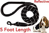 Dog Leash, Strong Highly Reflective Rope, Heavy Duty Chew Proof Paracord for Medium and Large Dogs, Durable...