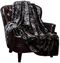Chanasya Fuzzy Faux Fur Throw Blanket - Light Weight Blanket for Bed Couch and Living Room Suitable for Fall Winter and Spring (50x65 Inches) Black