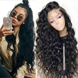 Fureya Hair Glueless Lace Front Wigs for Women Natural Loose Wavy Heat Resistant Fiber Synthetic Wig with Baby Hair 24 inch