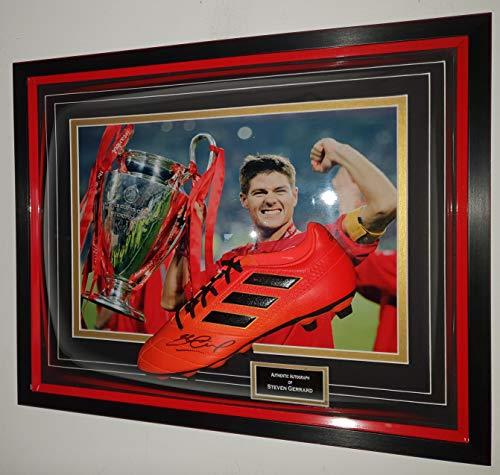 www.SignedMemorabiliaShop.co.uk Steven Gerrard van Liverpool ondertekend Boot Istanbul Beeldscherm