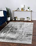 Unique Loom Sofia Collection Traditional Vintage Area Rug, 7' x 10', Gray/Light Gray