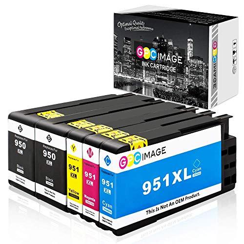 GPC Image Kompatible 950XL 951XL Multipack Druckerpatronen Ersatz für HP 950 XL 951 XL für HP Officejet Pro 8600-8610-8620-8100-8615-276dw (2 Schwarz/Cyan/Magenta/Gelb, 5er-Pack)