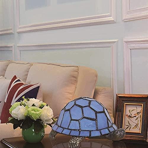 DALUXE Lámpara de Mesa de Estilo Tiffany, lámpara de Noche de Tortuga de Cristal Colorida para niños, lámpara de Noche Europea Creativa led con Interruptor