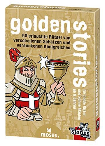 moses. black stories Junior golden stories | 50 erlauchte Rätsel | Das Rätsel Kartenspiel für Kinder
