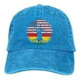 American Heart Ghana Flag Roots Hombres Mujeres Gorras de béisbol Ajustables Sombrero de papá de Mezclilla teñido con Hilo