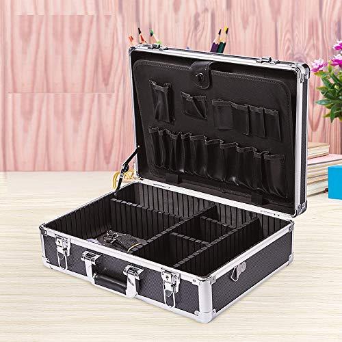 Massage-AED Boîte de Coiffeur verrouillable en Aluminium boîte à Outils boîte à Outils Vintage étui de Coiffure étui de Coiffure Sac à Outils avec Ceinture