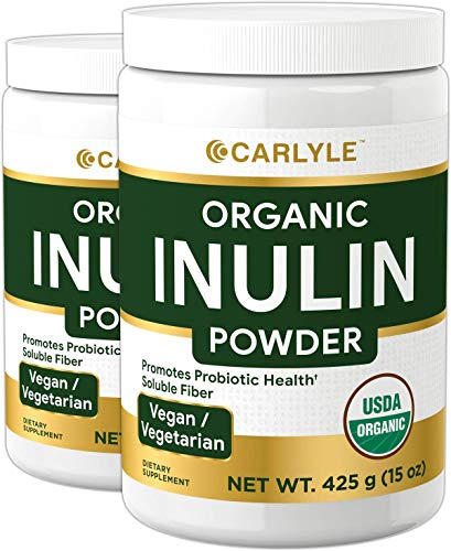 commercial Organic Inulin Powder 30 oz | Double Package | Prebiotic Fiber Supplements | Jerusalem… inulin powder