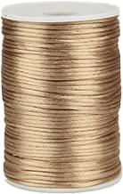 OZXCHIXU 2mm x 100 yards Satin Nylon Trim Cord, Rattail, Chinese Knot, Kumihimo Cord (Khaki)