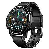 APCHY Business Smart Watch,Monitores de Actividad 1.28 Llamada De Bluetooth,Reproducción De Música Local, Pulsera De Pantalla Redonda, Reloj De Tasa De Ritmo Cardíaco Saludable,Negro