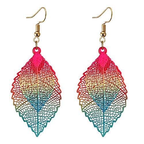 Smiela Women Fashion Hollow Leaf Shape Drop Earrings $2.69 (80% Off with code)