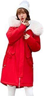 🍒 Spring Color 🍒 Women's Winter Faux Fur Hoodie Coat Parka Sherpa Fleece Thick Zipper Drawstring Warm Jacket Long Coat