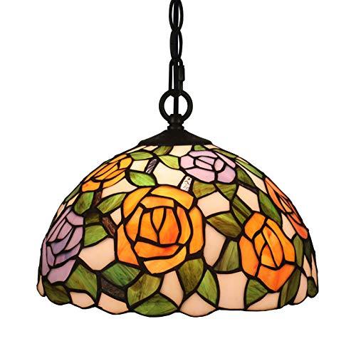 Lámpara De Araña/Lámpara Colgante/Luces Colgantes, Pantalla De Vitral Estilo Tiffany, Lámpara Colgante...