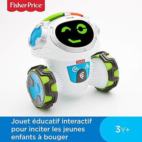 Fisher-Price Mouvi le Robot Interactif, Jouet Enfant Sons et Lumières, Jeux, pour des Apprentissages...