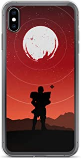 iPhone 7/8 Case Anti-Scratch Gamer Video Game Transparent Cases Cover Destiny Silhouette Art Titan Gaming Computer Crystal Clear