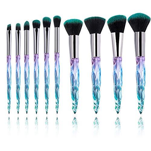 10-delige make-up-kwastenset voor wenkbrauwen, oogschaduw, concealer, poeder.