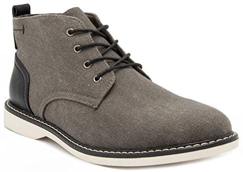 LONDON FOG Mens Belmont Chukka Boot Grey 11 M US