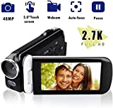 Video Camera Camcorder, ElecRat 24MP HD Interpolation 1080P Digital Video Camera 18X Digital Zoom 3.0 HD Touch Screen Digital Camera Recorder