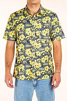 Iowa Hawkeyes Hawaiian Shirt Floral - Large - Black