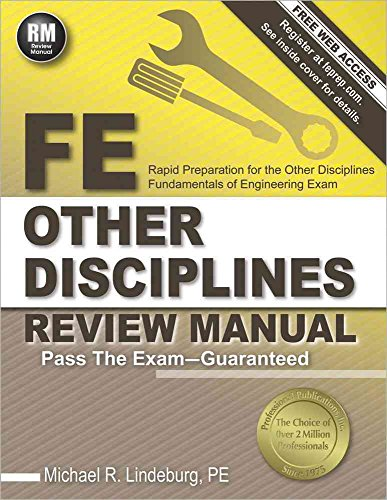 By Lindeburg, Michael R FE Other Disciplines Review Manual Paperback - July 2014