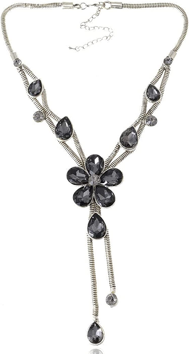 Limited time for free shipping Feeling Happy with Silver Metallic Daisy Rhines Oakland Mall Gem Flow Crystal