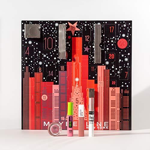 Maybelline New York Adventskalender mit Kosmetik hinter 24 Türchen, Beauty Adventskalender 2020 mit Schminke und Make Up