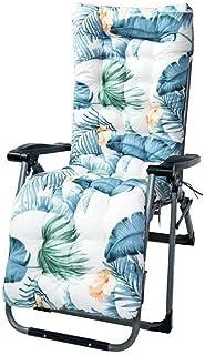 MiXXAR Cojín para tumbona, cojín grueso con lijado, suave y cómodo, para patio, jardín, tumbona, tumbona, tumbona, cojín grueso, para asientos al aire libre, impresión portátil