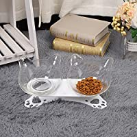 MIYU ノンスリップダブルペットの猫の上昇ボウルペットの猫ボウル耐久性の上昇待機猫犬フィーダーペット用品を摂食 (Color : B)
