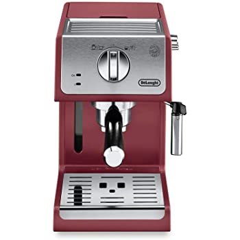De'Longhi ECP3220R 15 Bar Espresso Machine with Advanced Cappuccino System, 11.4 x 9.5 x 14.2 inches, Red