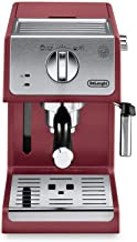 De'Longhi ECP3220R 15 Bar Espresso Machine with Advanced Cappuccino System, 11.4 x 9.5 x 14.2 inches, Red