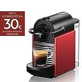 De'Longhi Nespresso Pixie EN124.R Macchina per caffè Espresso, 1260 W, Plastica, Rosso, Metallo