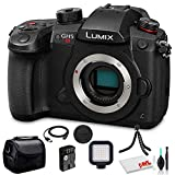 Panasonic Lumix DC-GH5S Mirrorless Digital Camera (DC-GH5S) - Bundle - with LED Video Light + Soft Bag + 12 Inch Flexible Tripod + Cleaning Set