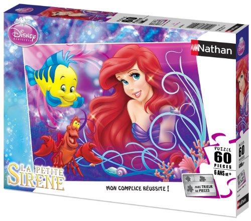 Nathan- Puzzle 60 p-Jolie Petite sirène/Disney Ariel Enfant, 86634