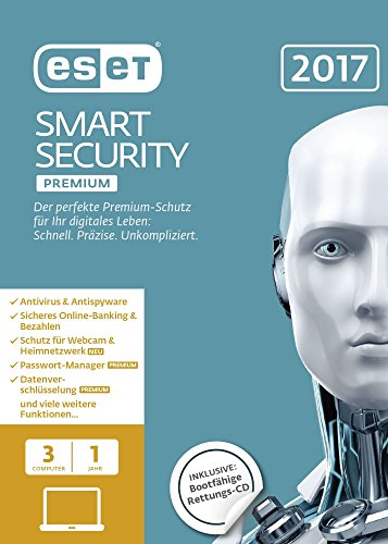 Preisvergleich Produktbild ESET Smart Security Premium 2017 Edition 3 User (FFP)