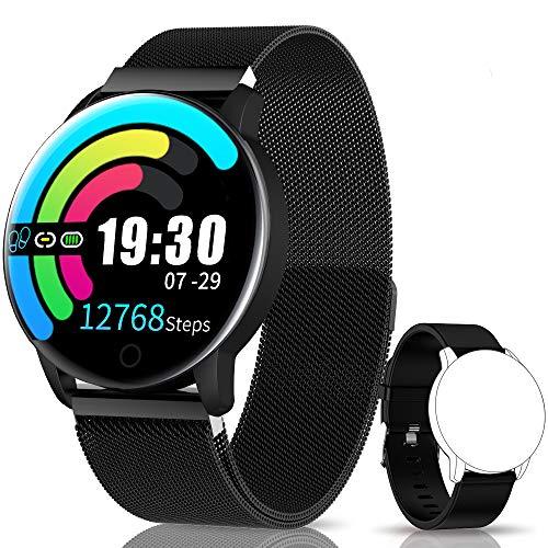 NAIXUES Smartwatch, Reloj Inteligente IP67 con Presión Arterial, 10 M