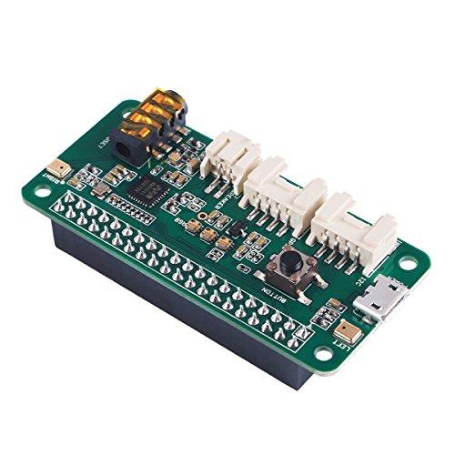 MakerHawk ReSpeaker 2-Mics Pi Hat Smart Voice Dual Carte d'extension pour Microphone basée sur wm8960, conçue pour Les Applications vocales AI, Raspberry Pi Zero/Zero W / 3B / 2B / B +