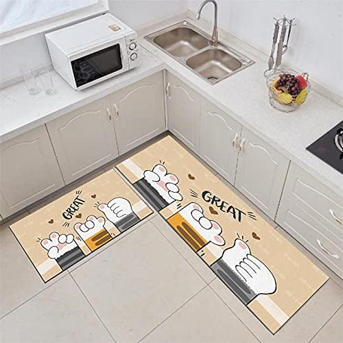 Alfombra antideslizante para cocina, baño, alfombra de entrada para el hogar, tapete absorbente para dormitorio, sala de estar, cocina, tamaño A8, 50 x 160 cm