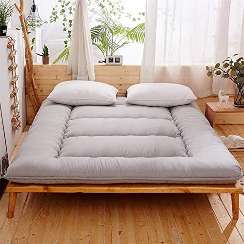 Colchón futón para dormitorio de color puro, cama individual, japonés, tatami, dormitorio, más grueso, grueso y suave, colchón plegable de 10 cm, tamaño: 180 x 200 cm, color: B)