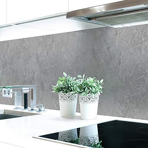 Küchenrückwand Steinwand Hellgrau Premium Hart-PVC 0,4 mm selbstklebend 400x60cm