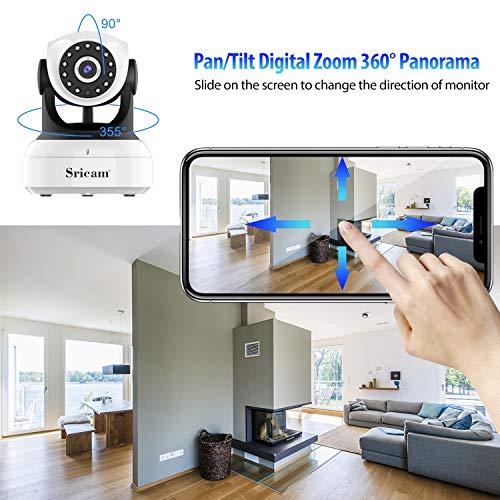 Sricam 1080P WLAN IP Kamera Indoor Überwachungskamera Innen Handy, Hund/Baby Monitor mit P2P Infrarot Nachtsicht, Bewegungserkennung, Zwei Wege Audio, SP017