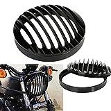 Griglia faro, OSAN Motociclo Griglia Faro Cover Motocicletta Lampada Copertura Alluminio CNC per Harley Sportster XL 883 1200 2004-2014